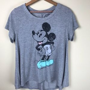 Disney Mickey Mouse Blue Shoes T-shirt Size M